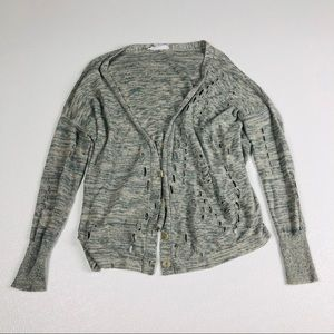 BCBG Generation open knit destroyed cardigan